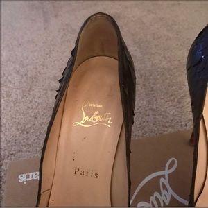Christian Louboutin Shoes - 🌺WEEKEND SALE🌺C.L.🌺PYTHON OPEN TOE STILETTOS🌺